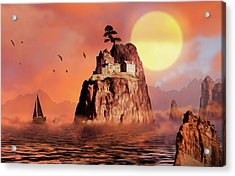 Castle On Seastack Acrylic Print