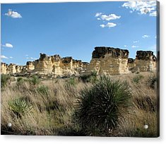 Castle Rock Badlands Acrylic Print by Keith Stokes