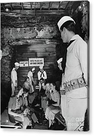 Castle Village Air Raid Shelter Acrylic Print