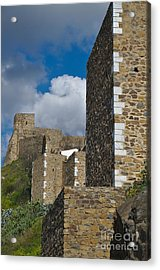 Castle Wall In Alentejo Portugal Acrylic Print