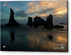 Acrylic Print featuring the photograph Castles In The Sand by Mike Dawson
