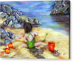 Castles In The Sand Acrylic Print by Winona Steunenberg