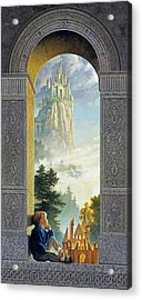 Castles In The Sky Acrylic Print by Greg Olsen