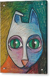 Cat  2000 Acrylic Print by S A C H A -  Circulism Technique
