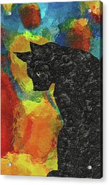 Cat Abstract Acrylic Print