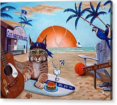 Cat-aritaville Acrylic Print by Jeff Conway