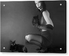 Cat Eyes - Self Portrait Acrylic Print by Jaeda DeWalt