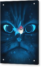 Cat Fish Acrylic Print