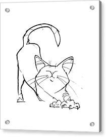 Cat Gesture Sketch Acrylic Print