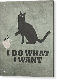 Cat Humor I Do What I Want Acrylic Print