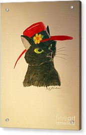 Cat In The Red Hat Acrylic Print