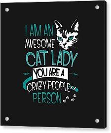 Cat Lady Acrylic Print