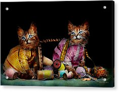 Cat - Mischief Makers 1915 Acrylic Print by Mike Savad