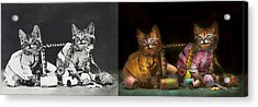 Cat - Mischief Makers 1915 - Side By Side Acrylic Print by Mike Savad