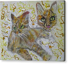Acrylic Print featuring the painting Cat Named Phoenicia by AJ Brown