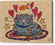 Cat Nap Acrylic Print by Jennifer Heath Henry
