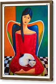 Cat On My Lap Acrylic Print by Khristina Manansala