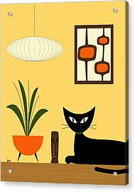 Cat On Tabletop With Mini Mod Pods 3 Acrylic Print