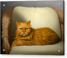 Cat Portrait Of Tosca Acrylic Print by Eric Bossik