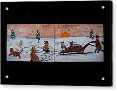 Cat Sled Team Acrylic Print