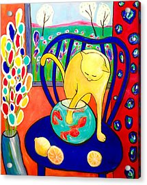 Cat - Tribute To Matisse Acrylic Print