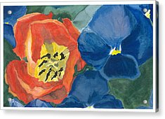 Acrylic Print featuring the painting Cat Tulip by Joel Deutsch