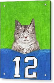 Cat With 12th Flag Acrylic Print