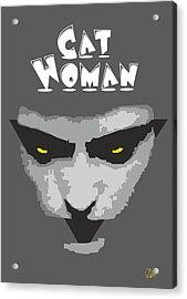 Cat Woman Acrylic Print by Joaquin Abella