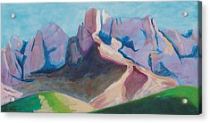 Acrylic Print featuring the painting Catalina Blue by Mordecai Colodner