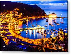 Catalina Island Avalon Bay At Night Acrylic Print