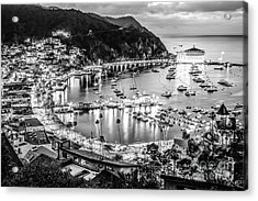 Catalina Island Avalon Bay Black And White Picture Acrylic Print