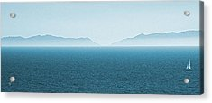 Catalina Island Large Panoramic Color Fine Art Print On Metal Acrylic Print by Ben and Raisa Gertsberg