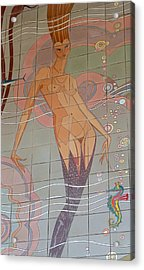 Catalina Tile Mermaid Acrylic Print
