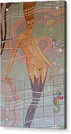 Catalina Tile Mermaid Acrylic Print by Jeff Lowe