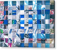 Acrylic Print featuring the mixed media Catalogue Blues by Jan Bickerton
