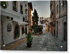 Acrylic Print featuring the photograph Catalonia - The Town Of Sitges 003 by Lance Vaughn