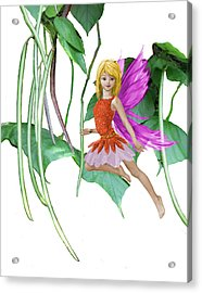 Catalpa Tree Fairy Among The Seed Pods Acrylic Print