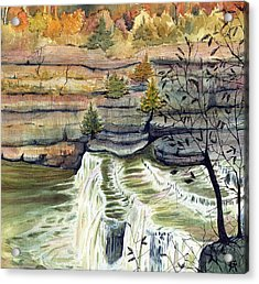 Acrylic Print featuring the painting Cataract Falls by Katherine Miller