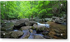 Acrylic Print featuring the photograph Catawba Stream And Rocks Panorama by Ranjay Mitra