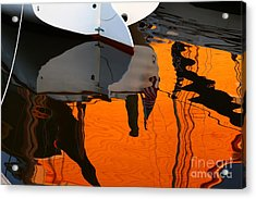 Catboat Reflection Acrylic Print