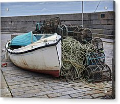 Catch Of The Day At Donaghadee Harbour Acrylic Print
