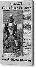 Catcher's Body Protector Acrylic Print
