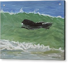 Acrylic Print featuring the painting Catching A Wave by Sharon Nummer