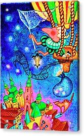 Catching Stars Acrylic Print by Inga Konstantinidou