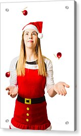 Catching The Quick Christmas Rush Acrylic Print by Jorgo Photography - Wall Art Gallery