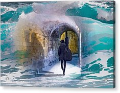 Catching The Tube With My Guitar Acrylic Print