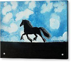 Catching The Wind Acrylic Print by Connie Valasco