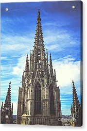 Acrylic Print featuring the photograph Catedral De Barcelona by Colleen Kammerer
