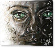 Catface Acrylic Print by Iglika Milcheva-Godfrey