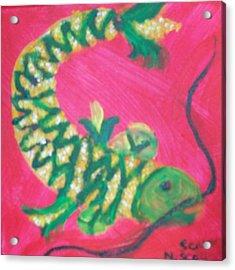 Catfish Rolled In Cornmeal Acrylic Print by Seaux-N-Seau Soileau
